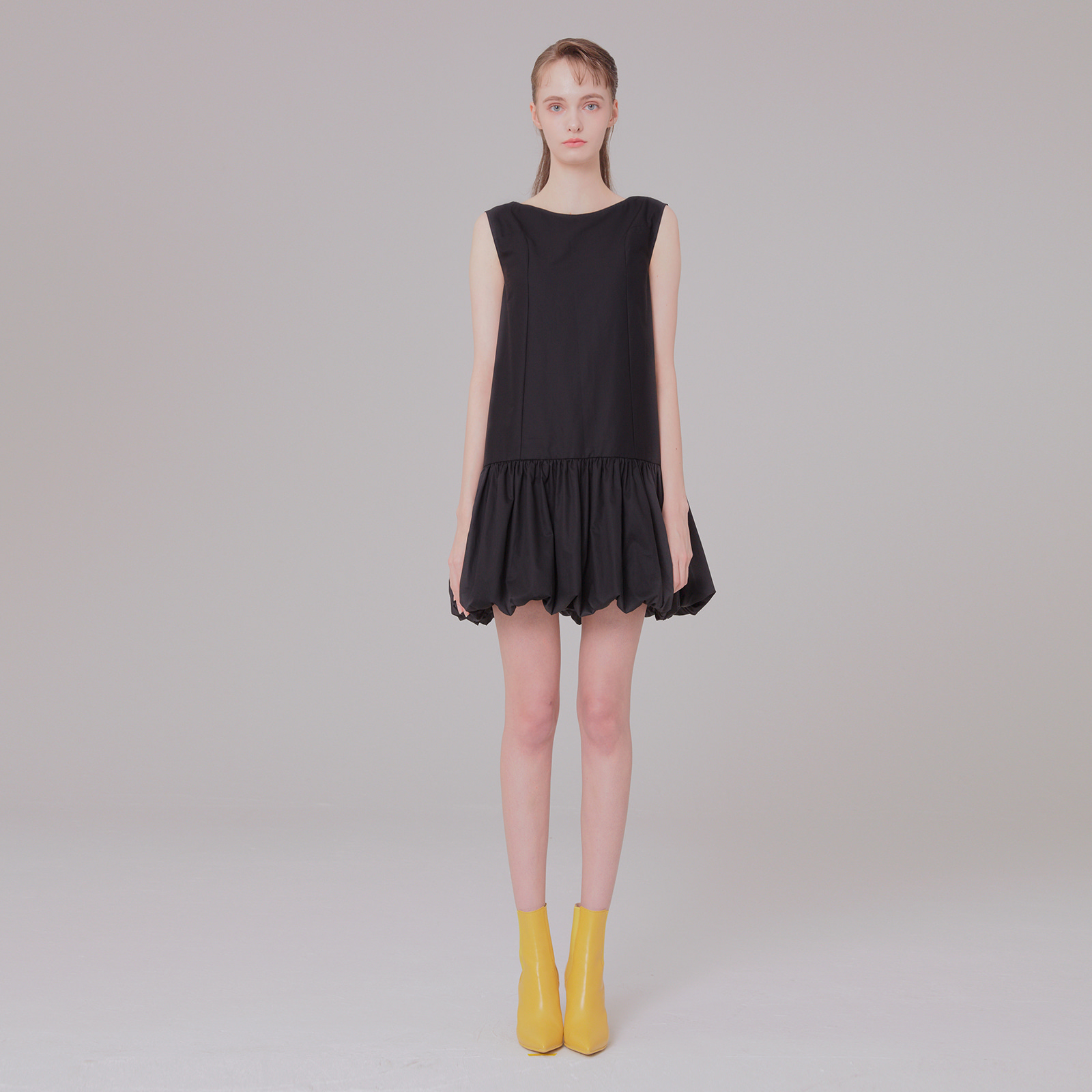 [5/29 예약배송] Ribbon detail dress 001 black
