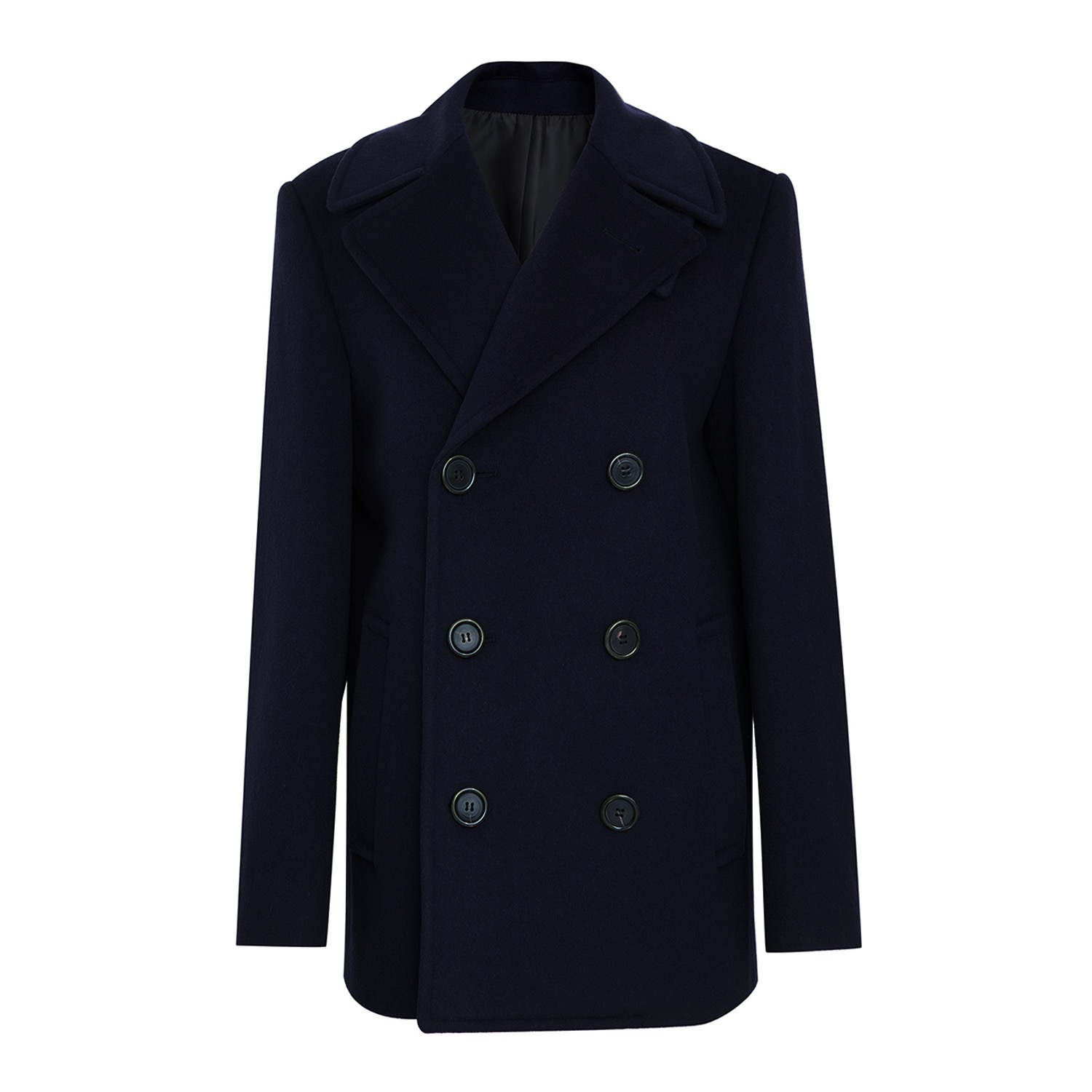 Double pea coat 002 Navy