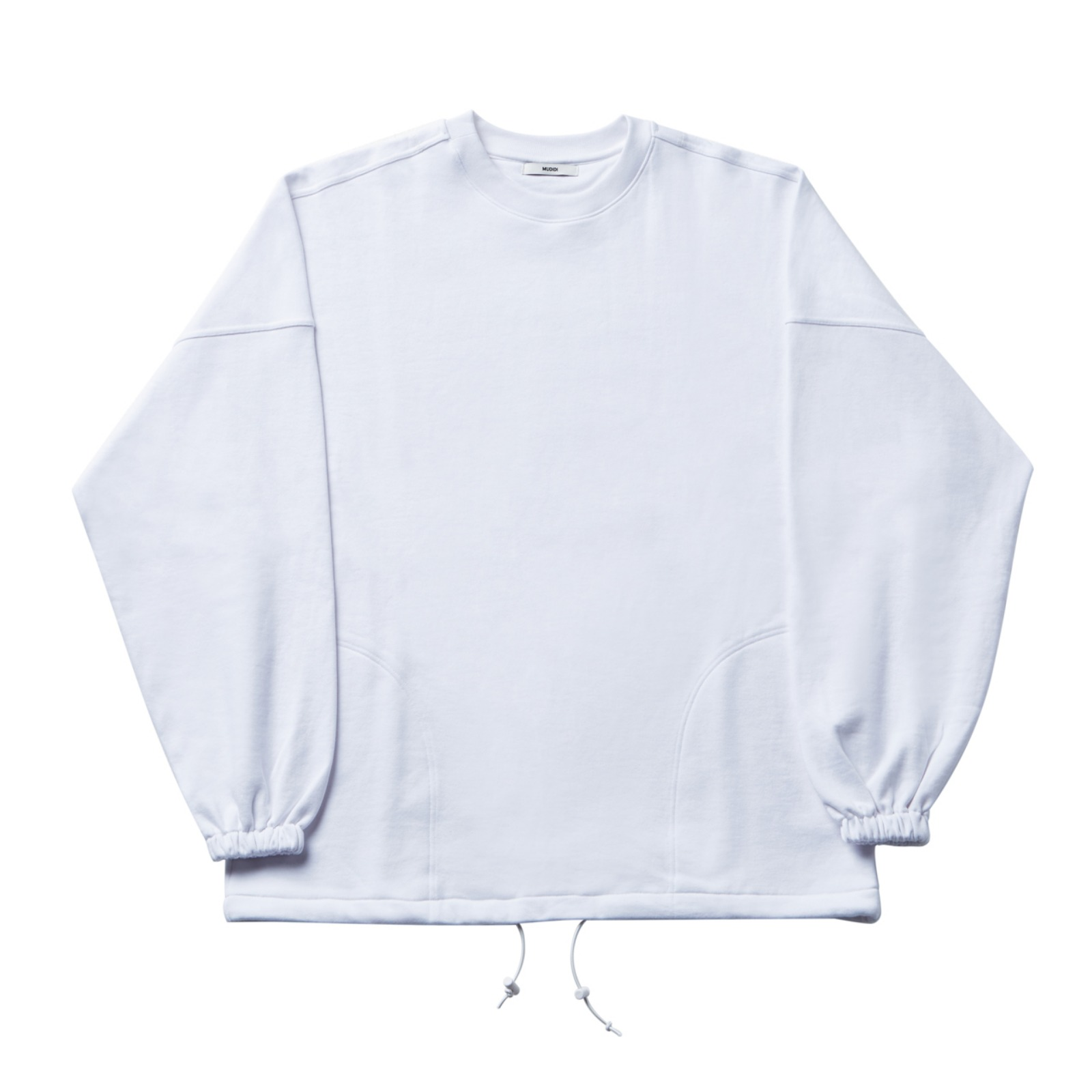 Over size sweat shirt 001 White(Unisex)