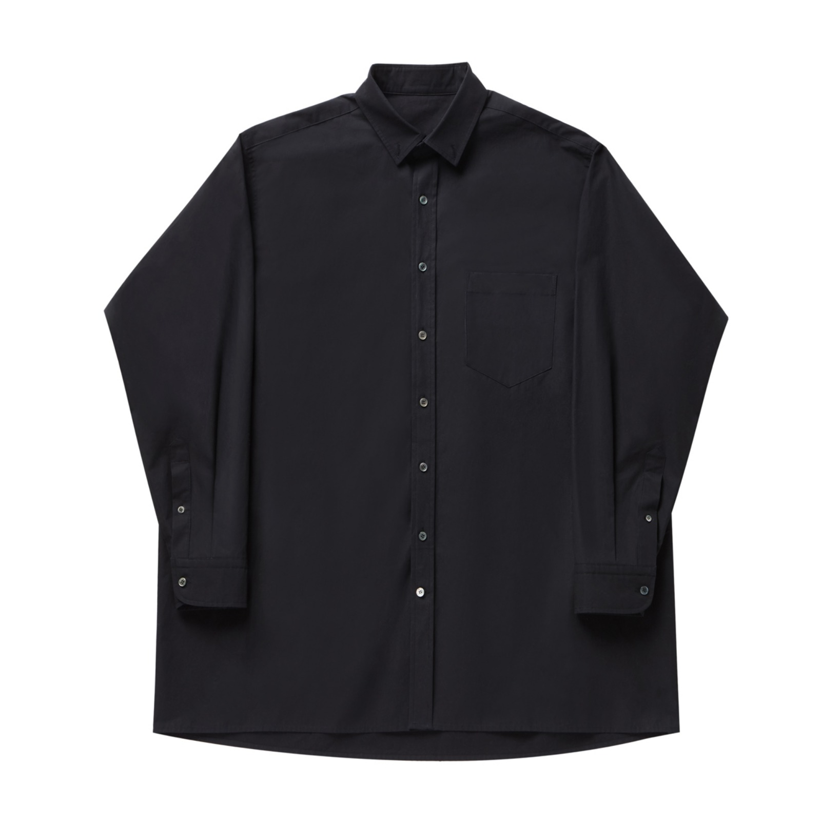Long shirt 001 Black(Unisex)