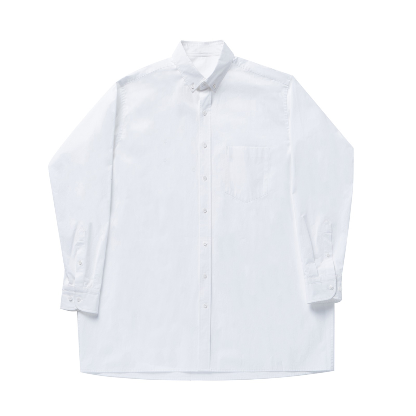 Long shirt 001 White(Unisex)