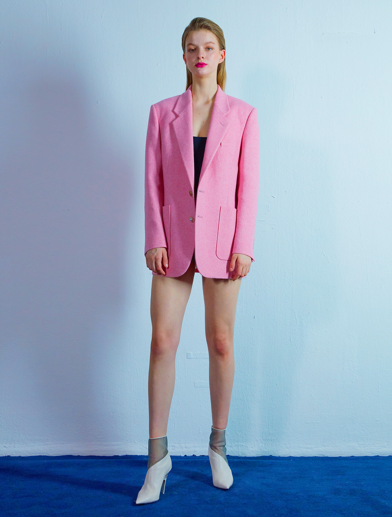 [현아,이민정착용]Custom button jacket 008 Pink