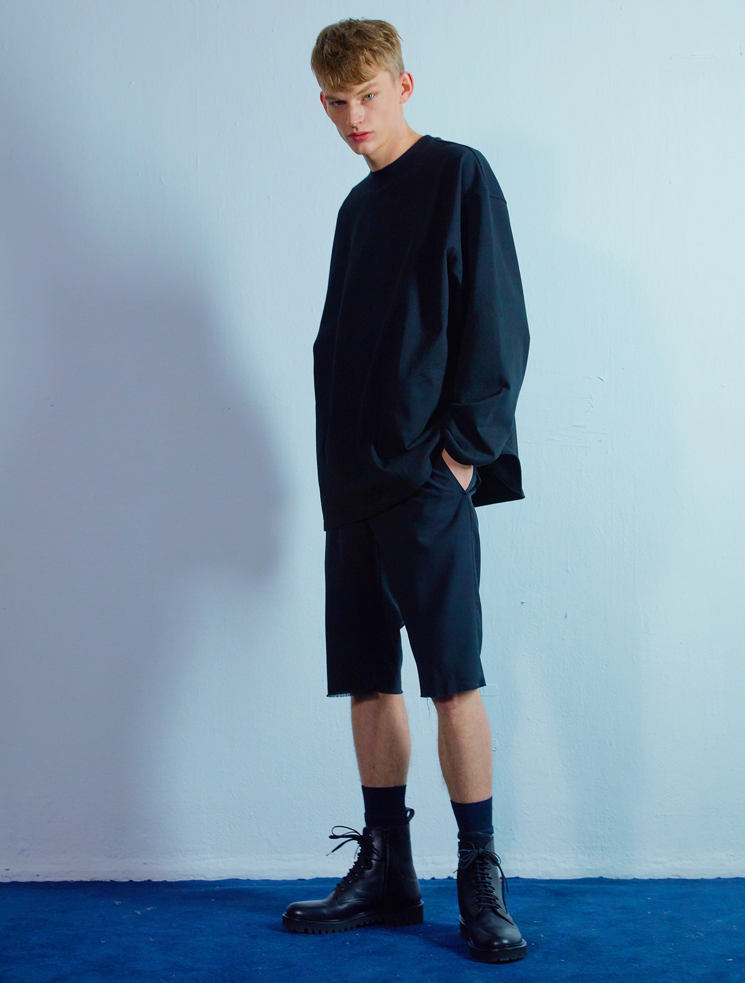 Pocket long sleeve 002 Black