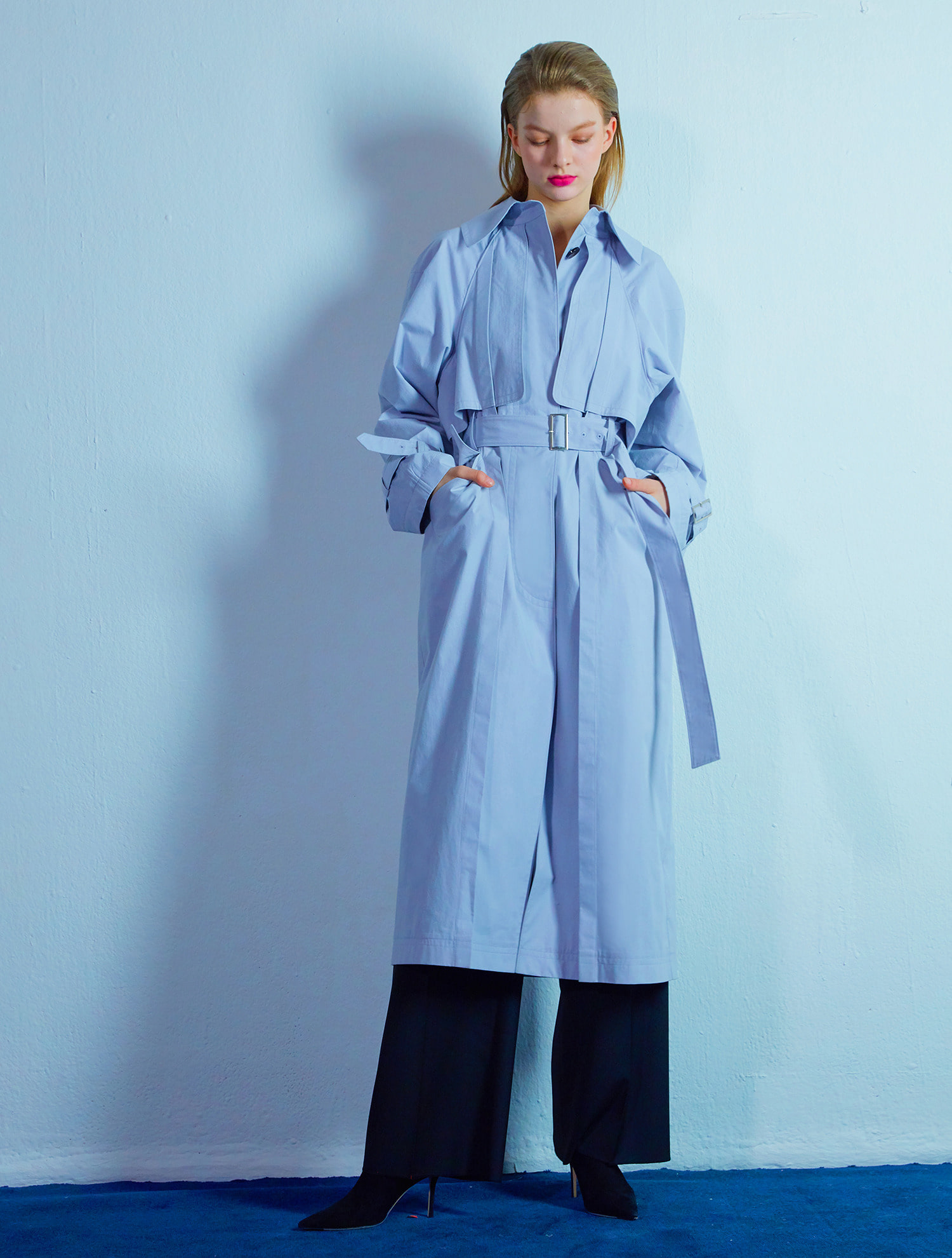 Detail trench coat 002 Lavender