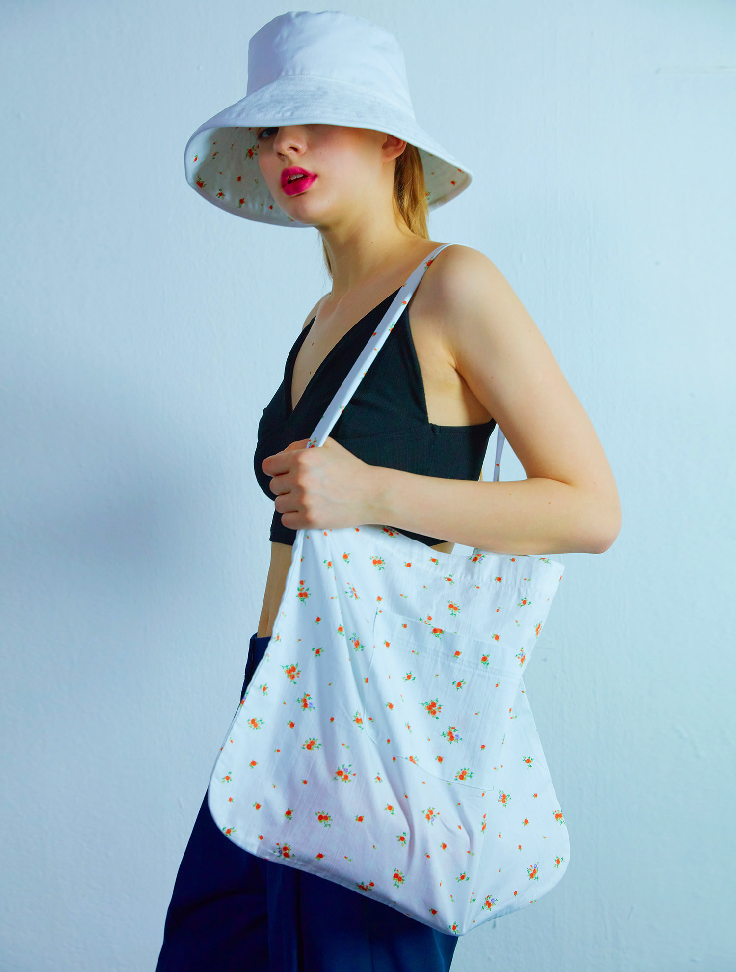 [공효진착용]Flower eco bag 001 White