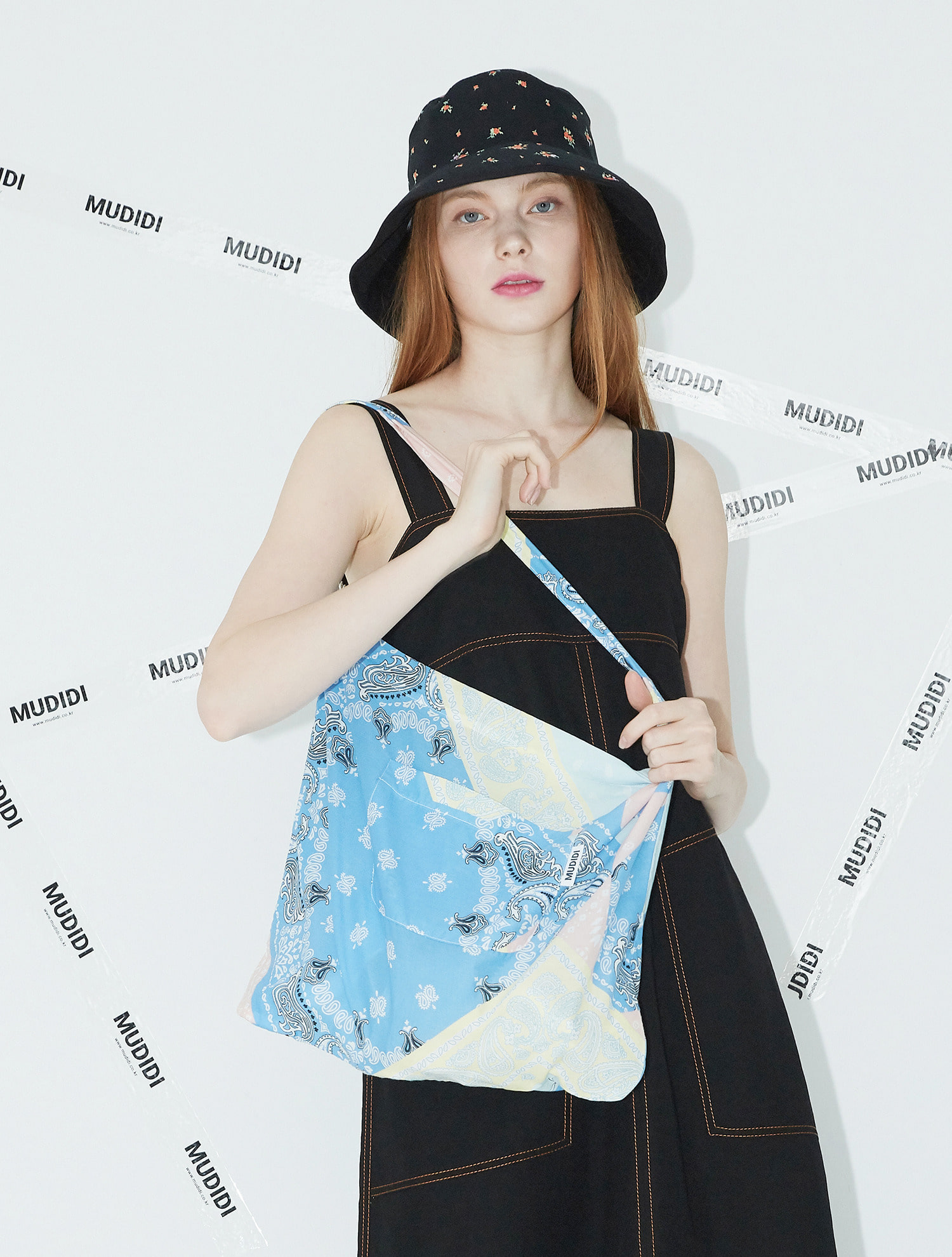 [한지혜착용]Paisley eco bag 003 Blue