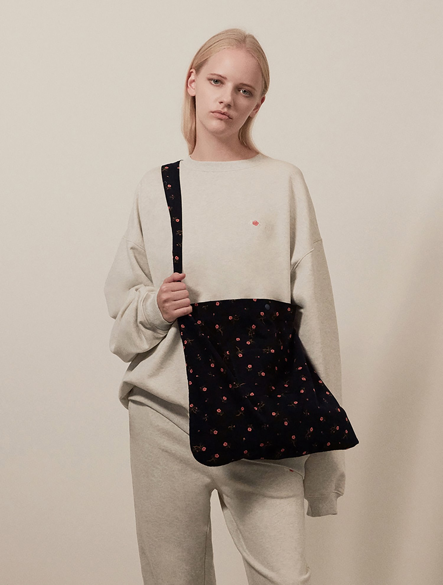 [1/22 예약배송] Flower eco bag 004 Navy