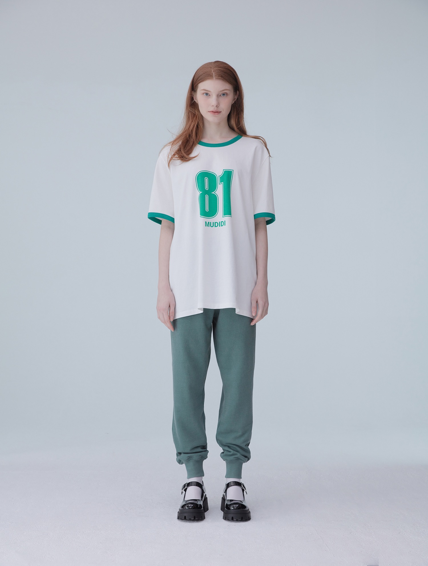 Oversize numbering t-shirt 002 Green
