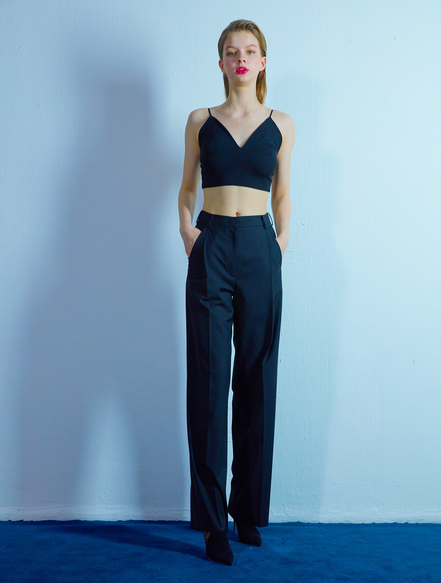 Wide pants 001 Black