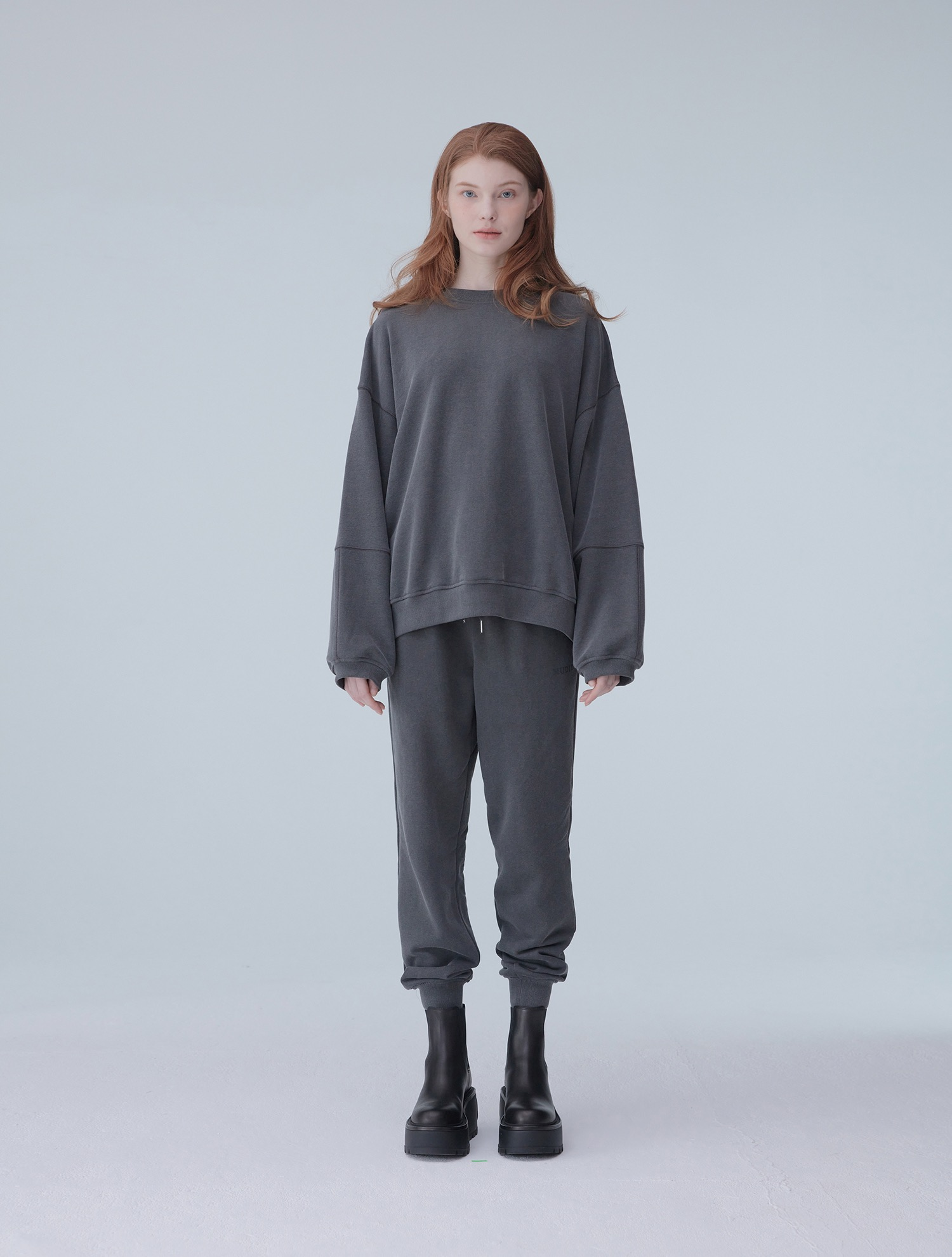 Pigment sweat shirt 001 Charcoal