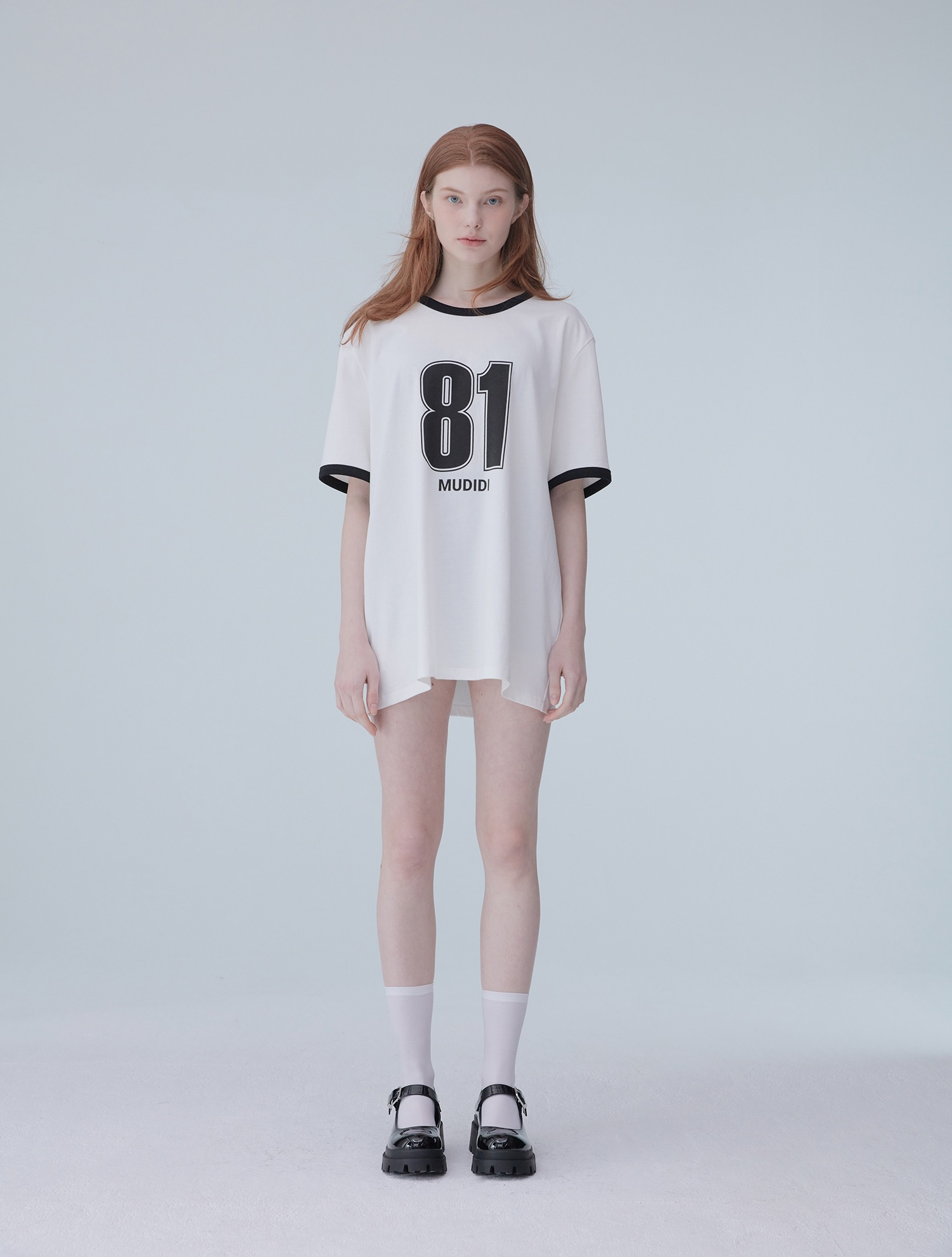 [오연서 착용]Oversize numbering t-shirt 002 Black