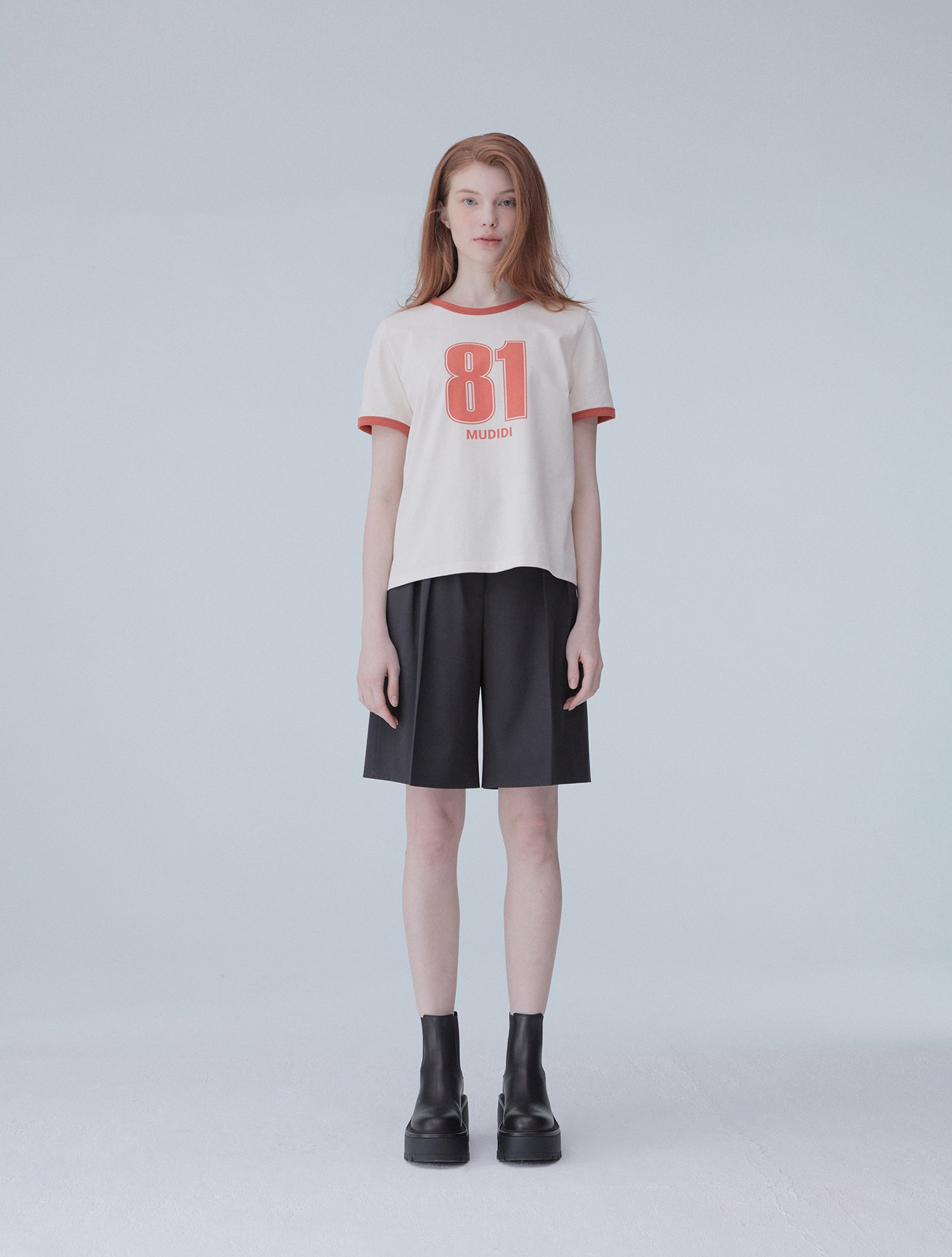 [손담비 착용] Numbering t-shirt 002 Orange